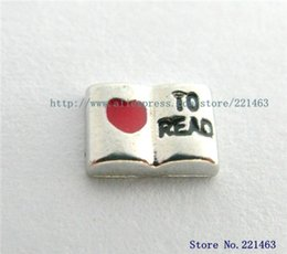 Wholesale Memory Read - Wholesale-Hot Sale 10pcs Love To Read Floating Locket Charm For DIY memory Floating Locket Accessories FC862 Free Shipping