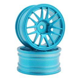 Wholesale Blue Drift Tires - RC Aluminum Wheel 4pc D:52mm W:26mm Fit HSP 1:10 On-Road Drift Car Rim 9062ALB