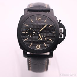 Wholesale Dot Leather Watch - 2017 AAA high-quality luxury brand PAM00508 series of black steel bezel dotted dial bottom of the power display automatic mechanical watch