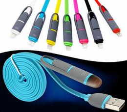 Telemóvel i on-line-Micro usb cabo 2 em 1 cabo de nylon 1 m 3 pés para carregamento android celular v8 cabo eu telefone a28
