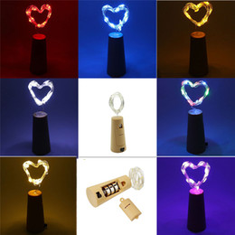 Wholesale Wholesale Purple Wine Bottles - Bottle Lights String Light 0.75M 15LEDs Wine Bottle Cork Battery Operated Starry Rope Fairy Lights For Party Holiday