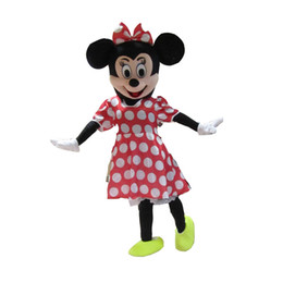 Wholesale Cartoon Character Costume Minnie Mouse - 100%as the picture, Fun Minnie Mouse Mascot Costume Adult Size Classic Minnie Mouse Cartoon Character Costumes Free Shipping