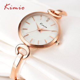Wholesale Kimio Ladies Watches - Wholesale- Original KIMIO Bracelet Watches for Lady Fashion Dress Gold Charming Chain Style Jewelry Quartz Women Watch