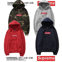 Wholesale Low Price Box Springs - 2018 Hot Lowest Price Sup Hoodies With logo Box Hip Hop Sweatershirt with Cotton Top Quality Pullover Oversize For Men Women Outdoor Wear