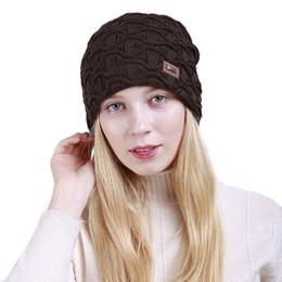 Spuitom Mulheres Moda Quente Elástico Macio Cap Conforto Oversized Knit Beanie Hat de Fornecedores de aquecedores de pescoço legal