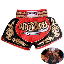 Wholesale Muay Thai Boxing Shorts - New Brand MMA shorts pantalonetas muay thai boxing shorts pantalon boxeo tights fight Fitness shorts for kids Men