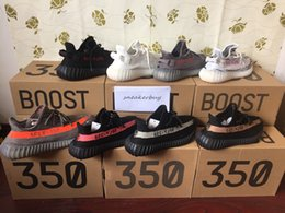 Wholesale Shoes Zebra Color - Cream white sply 350 V2 CP9366 boost 350 V2 Kanye west Running shoes Tripe white Beluga Dark Green Zebra Bred Copper 10 color