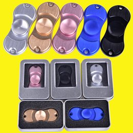 Wholesale Bear Fingers - Fidge Hand Spinners golden Aluminum alloy 5Colors Torqbar Ceramic Bearing axis EDC Finger Tip Rotation anxiety Toy DHL OTH349
