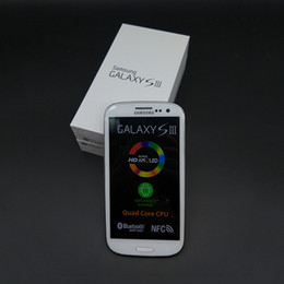 Wholesale Phone Galaxy S3 - Original Samsung Galaxy S3 i9300 GSM 3G Quad core Ram 1GB Rom 16GB 4.8 inch 8MP Unlocked phone Refurbished