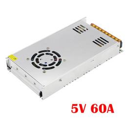 Wholesale Switching Power Supply Cctv - 5V 60A output 300W Switching Power Supply Driver LED Adapter CCTV US4 DC5V 2812B 2801 8806 Lighting Transformers