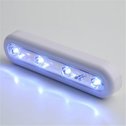 Wholesale Self Adhesive Strip Lights - Wholesale-1pcs Hot Self adhesive cordless linear led cabinet lamp touch sensor cabinet strip touch light battery powered up light bar