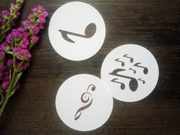 Wholesale Music Notes Painting - Drawing stencils kit 0f music note (3pcs) Masking template For Scrapbooking album cardmaking painting DIY cards 036
