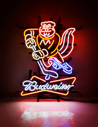 Wholesale bud light commercials - New Tat tire Neon Beer Sign Bar Sign Real Glass Neon Light Beer Sign MEX 683 BUD-minnesota golden gophers 20x18 001