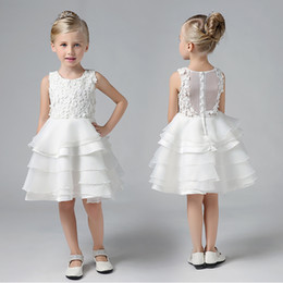 Wholesale Show Girls Dresses - Vestidos princess skirt autumn flower flower poncho skirt show children dress wedding dress