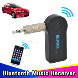 Wholesale Auto Car Audio - 2016 Universal 3.5mm Car Bluetooth Audio Music Receiver Adapter Auto AUX Streaming A2DP Kit for Car Stereo Speaker Headphone