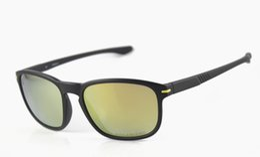 Wholesale 55mm Color Lens - Wholesale- Hot Fashion Sports Sunglasses Brand Sunglasses Mens Womens 9223 Black Quality Sunglasses Gold Polarized Lens 55mm