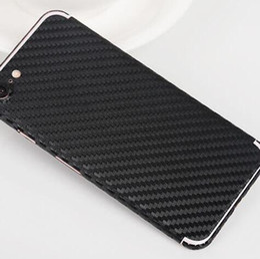 Wholesale Gold Carbon Fiber Wrap - Carbon Fiber Sticker for iPhone 6 6s 7 plus Galaxy s7 s6 edge note 5 Colorful Full Body Rise Gold Skin Vinyl Wrap Sticker White Black Matte