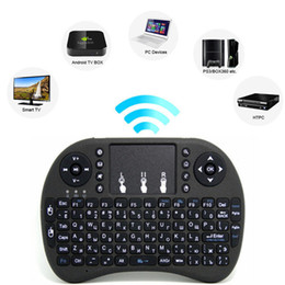 Wholesale Chargeable Wireless Mouse - 2018 Rii Mini i8 i8+Keyboard Touch Fly Air Mouse Chargeable Battery USB Cable Portable 2.4G Wireless Keyboard Mouse Combo Touchpad PC