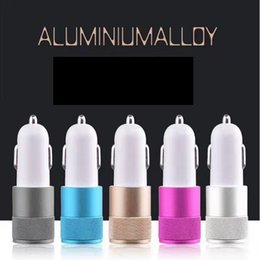 Wholesale Chinese Tablets Uk - metal Dual Port Universal USB Car Charger Compatible with apple iphone ,Andriod Phones, Tablets and Smart Phones. Portable Travel Chargers