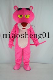 Wholesale Halloween Pink Panther Costume - 2017 new high quality men and women's overall pink panther Christmas costumes Halloween party cartoon mascot adult size
