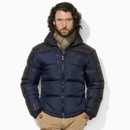 Wholesale Puffer Jacket Men - Thick Warm Feather Down Jacket Mens Core Trek Color Blocked Quilted Padded Puffer Jackets Nylon Anti Water Drawcord Adjustable Hem