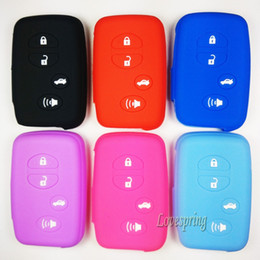 Wholesale Toyota Remote Smart Case - New Silicone Protective Case Cover Holder Fit For Toyota Highlander Prius V Venza Land Cruiser Camry Remote Smart Key 4 Buttons