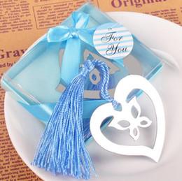 Papillon d'emballage cadeau en Ligne-Papillon dans le coeur signet fête du festival mariage cadeaux Métal artisanat évider signet emballage de boîte cadeau