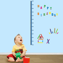 Wholesale Height Stick - 746-y Free Shipping Alphabet Height Chart DIY Removable Wall Sticker Decal Height Stickers