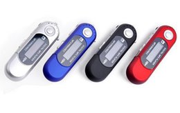 Wholesale Tf Card Max 32gb - Wholesale- 1Pcs Portable USB AAA Battery MP3 Music Player mini mp3 With FM Radio Support TF card max to 32GB