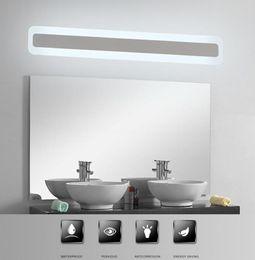 Miroir mural en Ligne-Moderne Acrylique Salle De Bain lumière Maquillage miroir lumière de plomb salle de bain Applique Murale Miroir Avant LED Éclairage Imperméable À L'eau Anti-buée