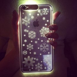 Wholesale Iphone Flash Skin - PC LED Flash Light Up Case Remind Incoming Call Cover for iPhone 5 5s 6 6s plus Clear Transparent Skin