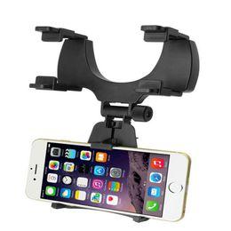Espejo retrovisor universal Soporte de coche Soporte Soporte Cuna para teléfono celular GPS Worldmart negro o blanco desde fabricantes