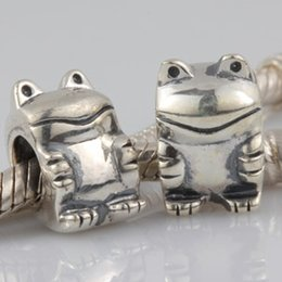 Wholesale Pandora Frog Charm Beads - 925 Silver Beads European Charms DIY Shape Stereoscopic Frog Shining Zircon Fit Pandora Snake Chain Bracelets Bangles