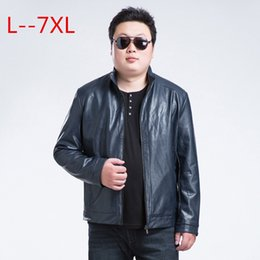 Wholesale Men S Real Leather Jacket - Wholesale- 6XL 7XL men leather jacket real leather jacket and autumn coat men plus-size The brand of high qualitymen's jacket Free shipping