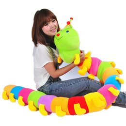 Wholesale Cheap 12 Doll - Wholesale- 1pcs 110cm INCHworm Caterpillar Worm Stuffed Plush Toy Peluche Bug Doll Hold Pillow Soft Cute Lovely Gift Good Quality Cheap