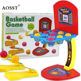 Wholesale Shooting Games Basketball - Wholesale Kids Baby Basketball Shooting Machine One or More Players Game Toys Parent-child Interaction Basketball Game toys