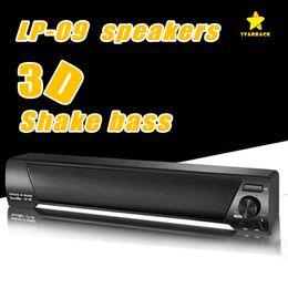 Wholesale Tv Bar Speakers - LP-09 Bluetooth Speaker TV Sound Bar 4.0 Channel Bluetooth Speaker USB Stereo Speaker 3.5mm Aux TF Card For TV PC