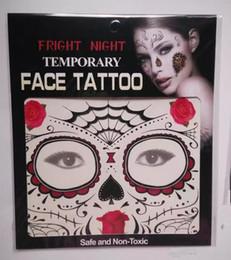 pintura de la cara de pascua Rebajas Nuevo Festival Cara Tatuajes cara Tatuajes temporales Hallowmas tatuajes 9 colores de estilo Mejor regalo de calidad envío de DHL