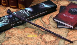 Wholesale Wand Styles - 19 Styles Cosplay Harry Potter magic wand Dumbledore magical wand wizarding world of harry potter Hogwarts Magic with a Gift Box