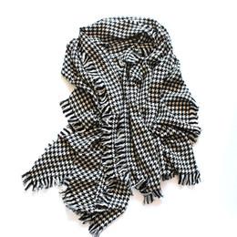 Canada 2017 nouvelle taille de bavure de laine à carreaux noir et blanc doit être entouré de dames éparses mode multifonction châle écharpe châle de cachemire Offre