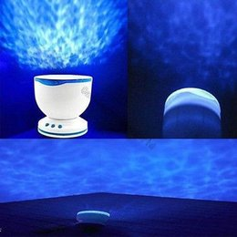 Wholesale Plastic Projector - Wholesale-Baby Cot Mobile Toy Ocean Waves Projector Speaker Lamp Night Light Starlight