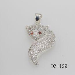 Wholesale Pendant Fox - 925 Sterling Silver Exquisite Fox Shape Pendant Necklace Chain Jewelry Women Necklaces & Pendants Fashion Wedding Pendants