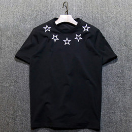 Wholesale Star Printed - Creative star pattern printed tshirt short sleeve shirts plus size cotton men clothing casual t shirts S-XXXL