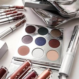 Wholesale Size New - Dropshipping new Holiday edition Kyshadow THE BURGUNDY PALETTE Kylie Cosmetics Jenner eyeshadow Kit Palette Bronze Cosmetic 9 Colors