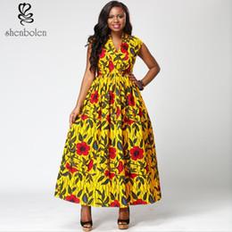 Traditional design dresses im Angebot-Shenbolen Womens Dashiki  doppelseitiges Taschen-Entwurfs-Kleid- f9d0002afbed