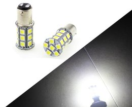 Wholesale 27 Smd - 1pcs Super White 1157 1156 27 SMD Car Light 12v Bulb BA15S 1141 1003 RV Camper Trailer Auto Interior Light Lamp Bulbs Brake Lights