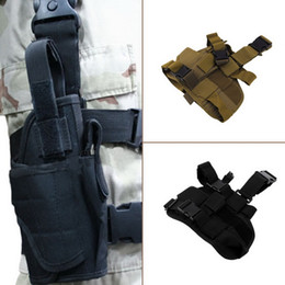 Wholesale Holster For Guns Wholesale - Classic Adjustable Practical Puttee Bag Thigh Leg For Gun Holster Pouch Outdoor Hunting Airsoft Military Tactical wholesale