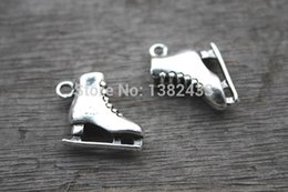 Wholesale Roller Skate Charms - 56pcs-Ice-Skate-Charms-Antique-Tibetan-Silver-3-D-Roller-skates-charm-pendants-20x17X6mm
