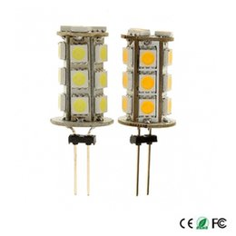 Wholesale E27 G4 Led - Wholesale- Super Bright G4 LED Bulb 7W 18 SMD 5050 LED Light BulbS Lamp DC 12V Replaceb 70W incandecent light