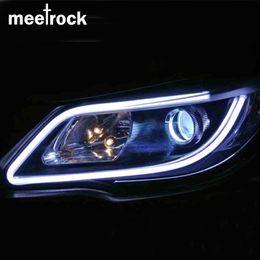 Discount smd led car auto - Meetrock 2pcs 60cm silicagel LED DRL turn signals external light daytime running light auto 12V SMD COB car-styling